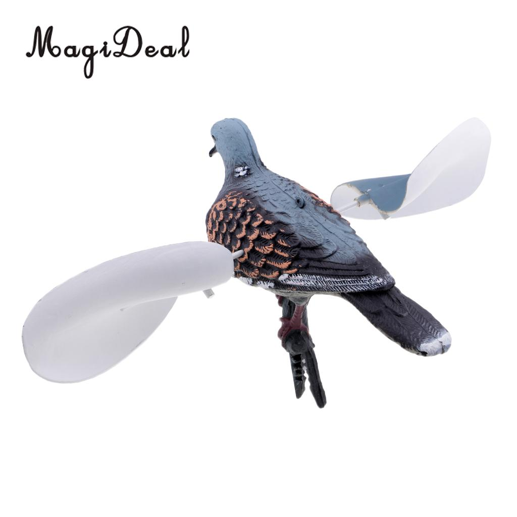 MagiDeal Hunting Decoys Lifelike Flying Pigeon Decoy Bird Deterrent Garden Decoration Scarecrow For Fishing Camping Supplies