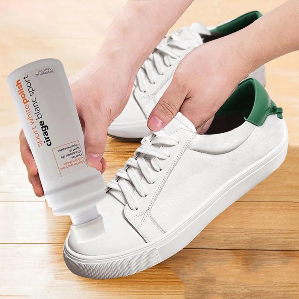 Independiente Zapatos De Tablero De Belleza De Limpiador De Polvo Quitar Amarillo Blanquear Zapata De Limpieza Crema Blanco Brillante Zapatos De Cepillo De Lavar Las Manchas