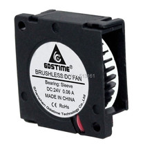 20 Pieces Gdstime 24V 30mm 3010 Blower Fan * 10mm Mini Brushless Cooling Cooler