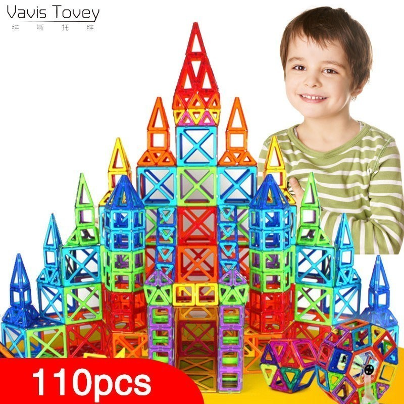 Vavis Tovey Blocks Magnetic Designer Building Construction Set Magnet Educational Toys Children Kids Gift