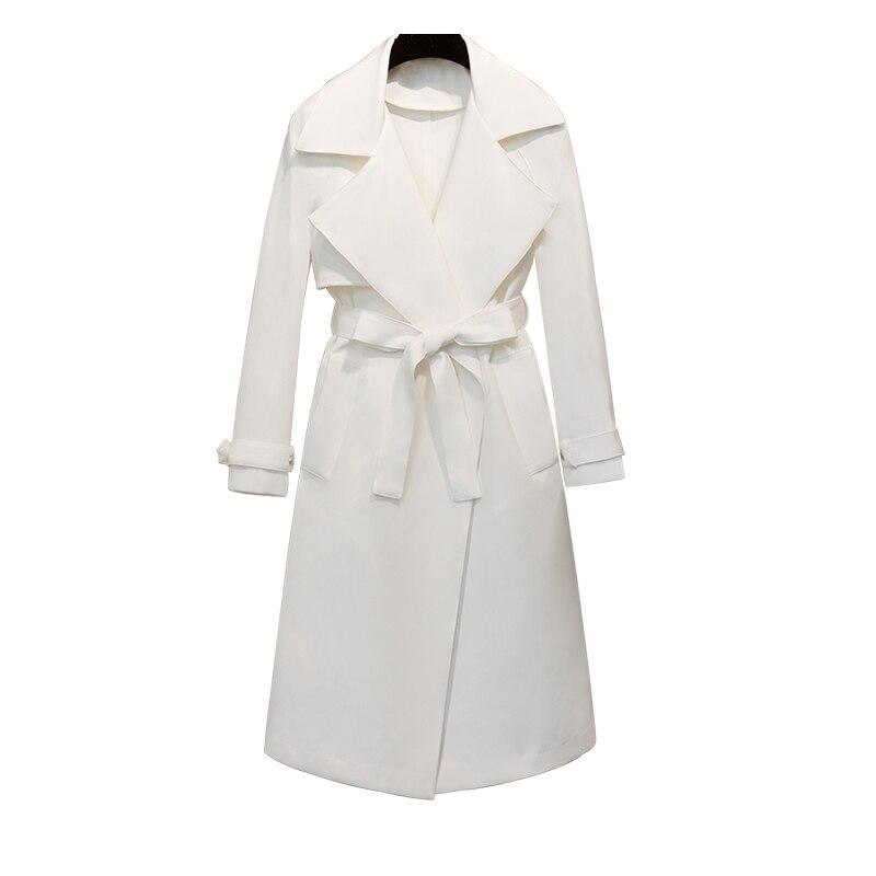 Pour Nouveau Printemps Blanc Yg69000xl Revers Manteau Coupe Modèle 2019 Taille Vêtements White vent Lâche Chalaza Lanmrem Femme Femmes Ht8fpHq