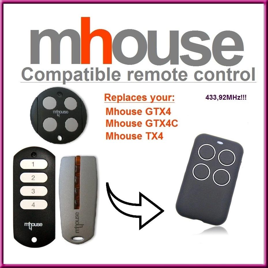 Mhouse GTX4/C MHOUSE GTX4 Alta calidad. Mhouse TX4/Compatible Mando a distancia transmisor 433,92/mhz distancia de repuesto para