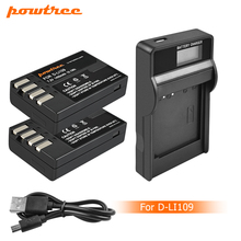 Powtree D Li109 DLi109 D-Li109 Battery+LCD Charger For Pentax K-70 K70 K-50 K50 K-30 K30 K-S1 KS1 K-S2 KS2 K-r Kr L10