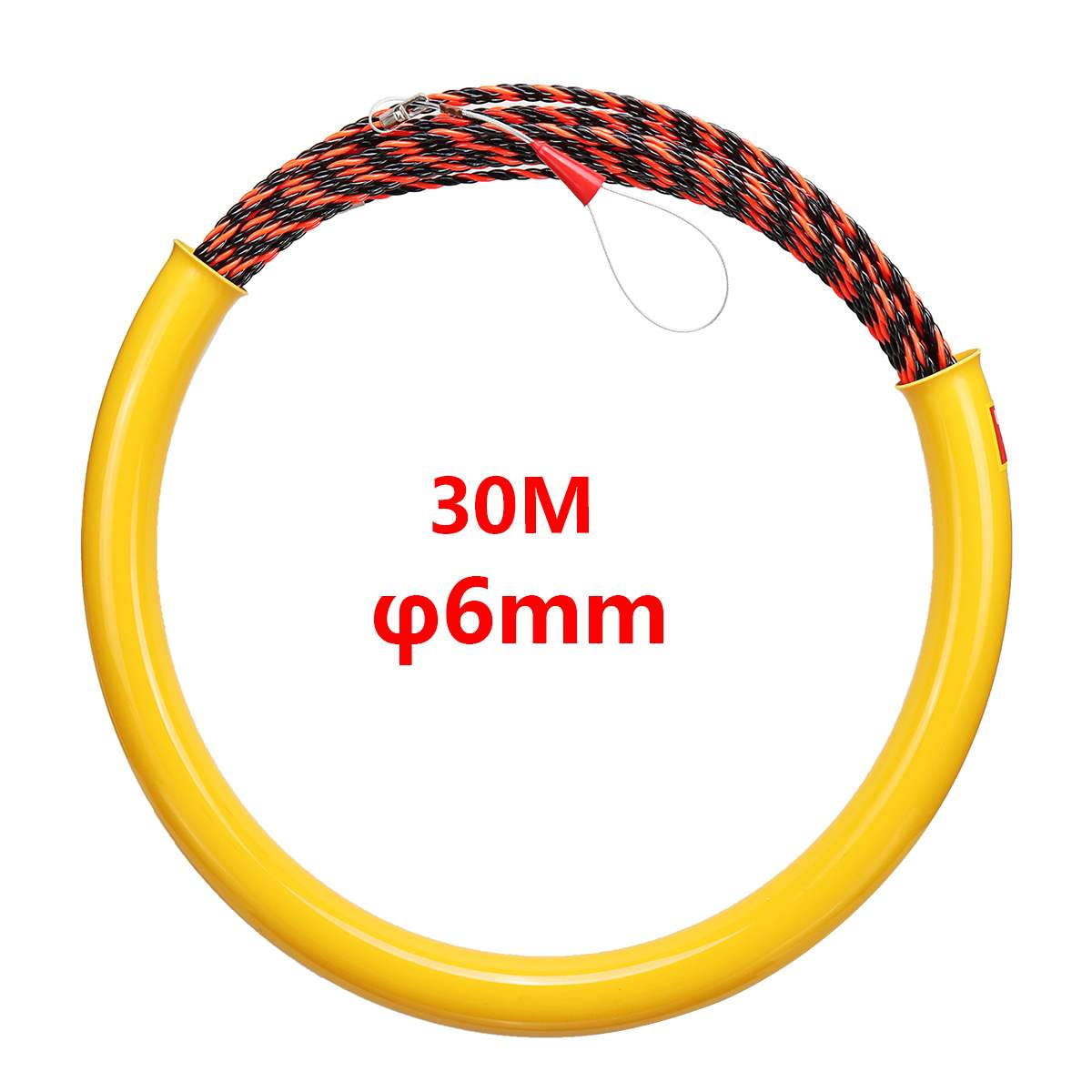 6mm*30m Nylon Fish Tape Electric Cable Push Puller Snake Conduit Ducting Cable Rodder Wire Guide6mm*30m Nylon Fish Tape Electric Cable Push Puller Snake Conduit Ducting Cable Rodder Wire Guide