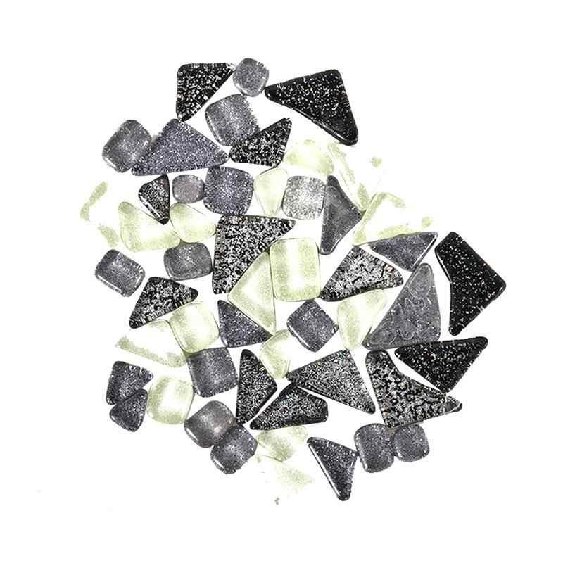 Изысканная простая необычная стеклянная мозаичная плитка, блестящая, смешанный цвет, богатый гравий, сделай сам, украшение, Детская интеллектуальная игрушка для рисования