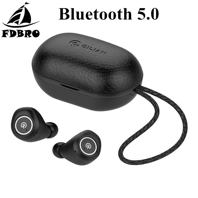 FDBRO Wireless Bluetooth 5.0 Headset Touch Rechargeable Sports Earphone IPX5 Waterproof Noise Canceling Stereo Music EarbudsFDBRO Wireless Bluetooth 5.0 Headset Touch Rechargeable Sports Earphone IPX5 Waterproof Noise Canceling Stereo Music Earbuds