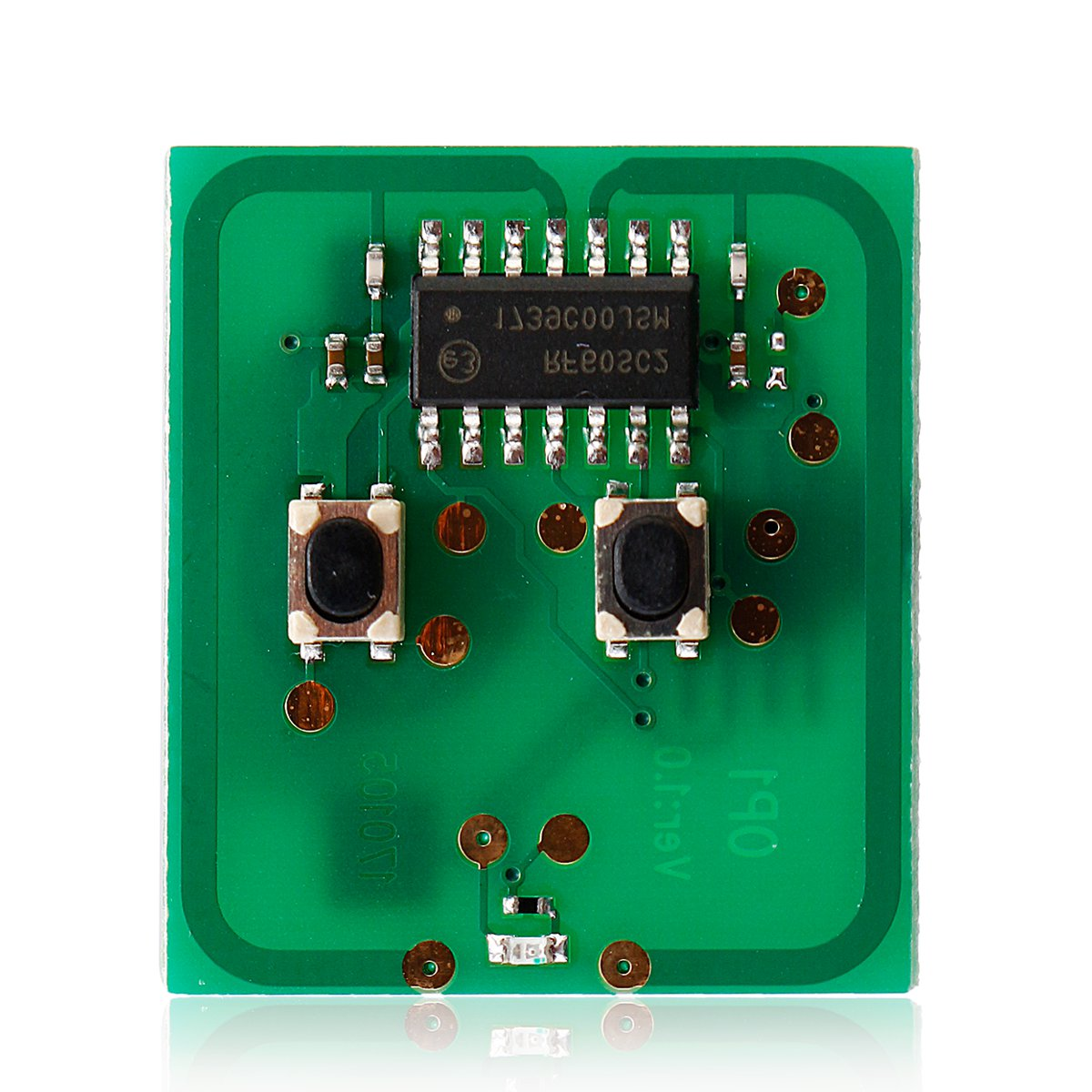 2 Button Remote Key LED Circuit Board W/o Battery For Vauxhall Astra G Zafira Metal And Plastic