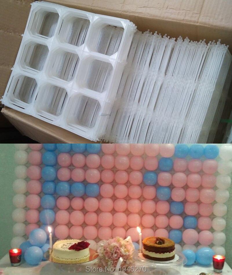 50 pcs/lot ballon maille mur décorations de mariage ballon grille carnaval fête fournitures anniversaire 4 trous/9 trous grilles (pas de ballons)-in Partie Décors from Maison & Animalerie    1