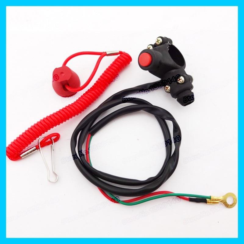 Mini Moto Kill Tether Safety Switch Push Button For Pocket Dirt Bike ATV TRX