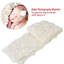 Newborn Baby Rose Faux Fur Blanket Basket Stuffer Rug Backdrop Photo Photography Prop Tools(China)