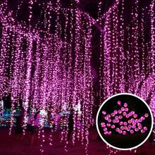 Solar Christmas Lights outdoor 10m 100LED Solar Powered Light Lamp String For Wedding Christmas Holiday Cotton Ball Light(China)