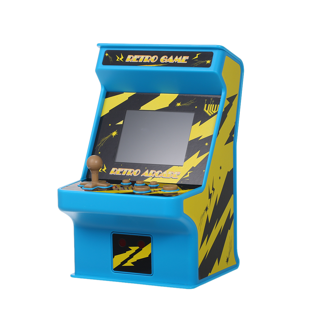 Classic Handheld Video Gaming Console Game Cabinet Machine Battery Powered 256 in 1 Arcade Games 8-bit with Gamepad Controller