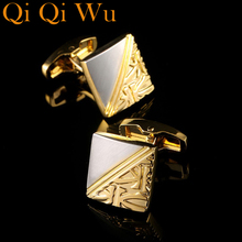 2017 New Arrive Luxury Shirt Cuff link for Men's Gifts Unique Wedding Gold Cufflinks For Mens Business Gift Suit Sleeve Buttons anchors cufflinks with studs for tuxedo shirt luxury gold color nautical sailing cuff link buttons