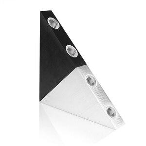 Image 4 - مصباح جداري ليد 5 وات هيكل من الألومنيوم مصباح جداري مثلثي لغرفة النوم إضاءة منزلية مصباح إضاءة للحمام حامل جداري