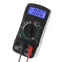 Multímetro Digital LCD XL-830L  amperímetro  medidor de resistencia de corriente de CA/CC/OHM  con medición de temperatura