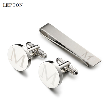 circle Letters M Cufflinks
