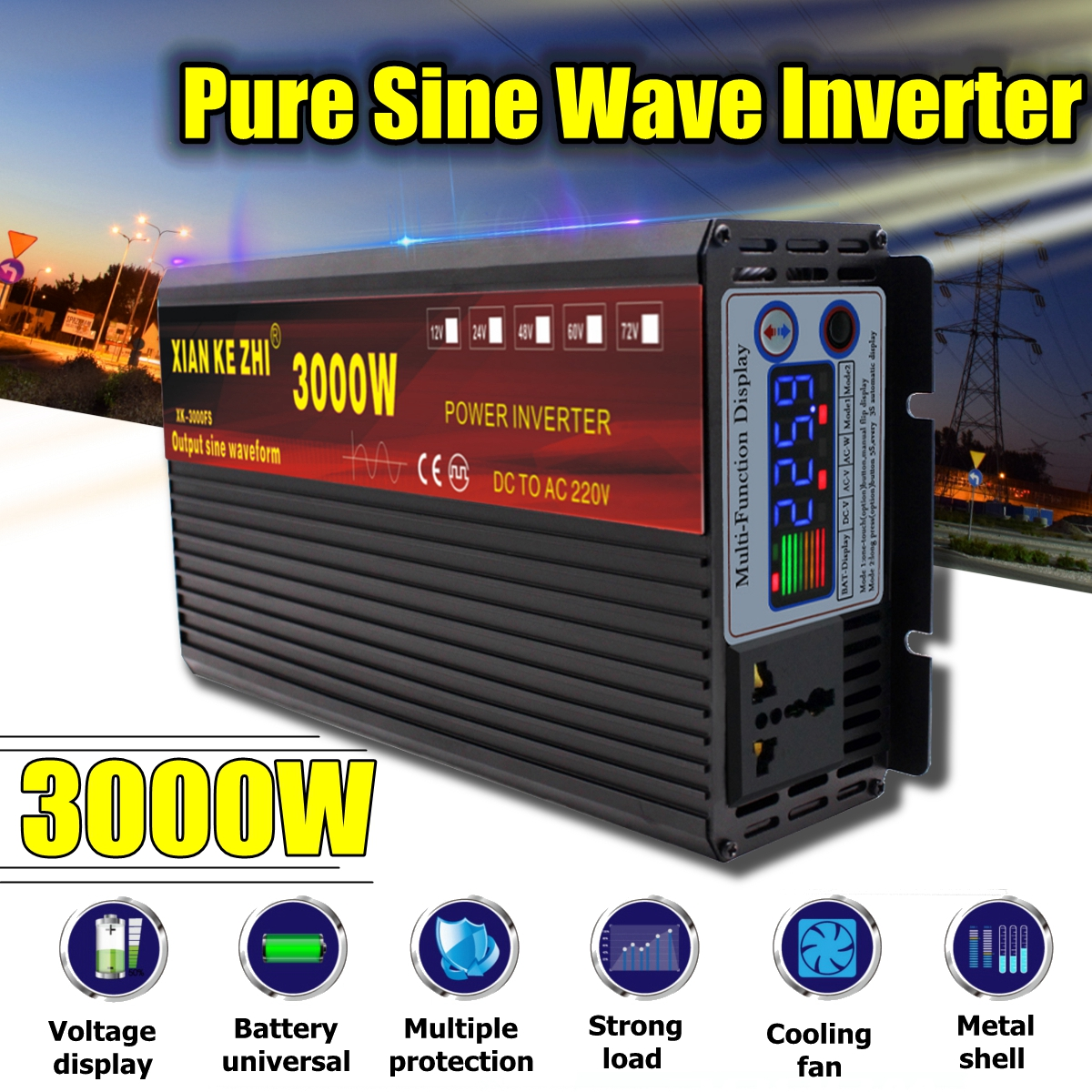Wave Inverters Pure Volt 12 Sine