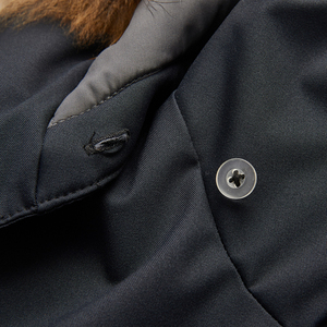 Image 5 - BOSIDENG איטלקי מעצב אוסף חורף לעבות להאריך ימים יותר נשים אמצע ארוך טבעי פרווה צווארון אווז למטה מעיל רופף B80142160S