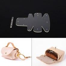 ad2e52703 DIY bolsa bolso cartera patrón plantilla acrílico de artesanía de cuero