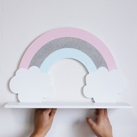 Nordic Style Rainbow Wall Shelf Modern Restaurant Wall Shelf Children's Room Decoration Photography Props Baby Room Accessories