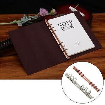 Clip de carpeta de Metal A5, 6 Clips de encuadernación de anillo para carpeta de archivos de hojas sueltas, diario, cuaderno, álbum de fotos DIY