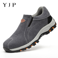 YJP Anti puncture Kitchen Work Safety Shoes For Men Steel Toe Slip on Anti smashing Spring Men Vulcanize Shoes Casual Sneakers