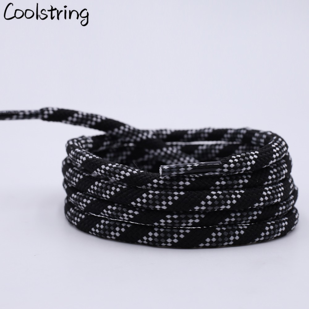 Coolstring 6mm Fat Tri-color Six-twill Round Shoelace Drawstring Waist Sweater Hat Rope Bootlaces Camping Polyester Shoes Laces