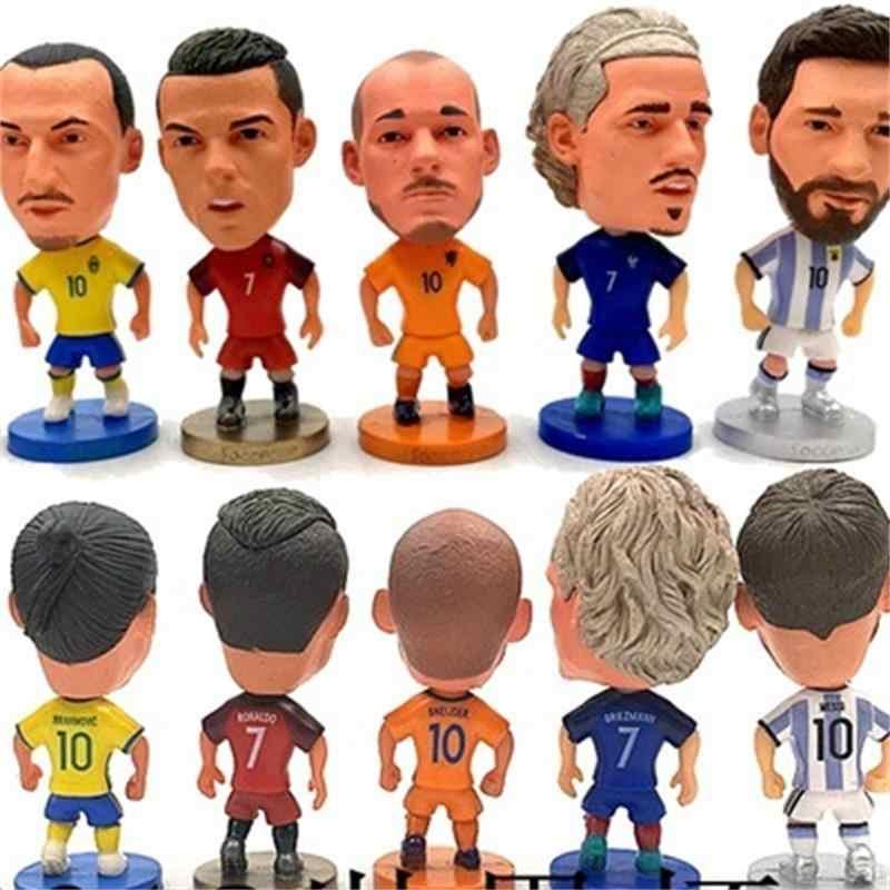 Europa Super Hot Calcio Star Lettore Action Figure Giocattoli di Modello della Bambola di Calcio Messi C Ronaldo Neymar Pogba CA