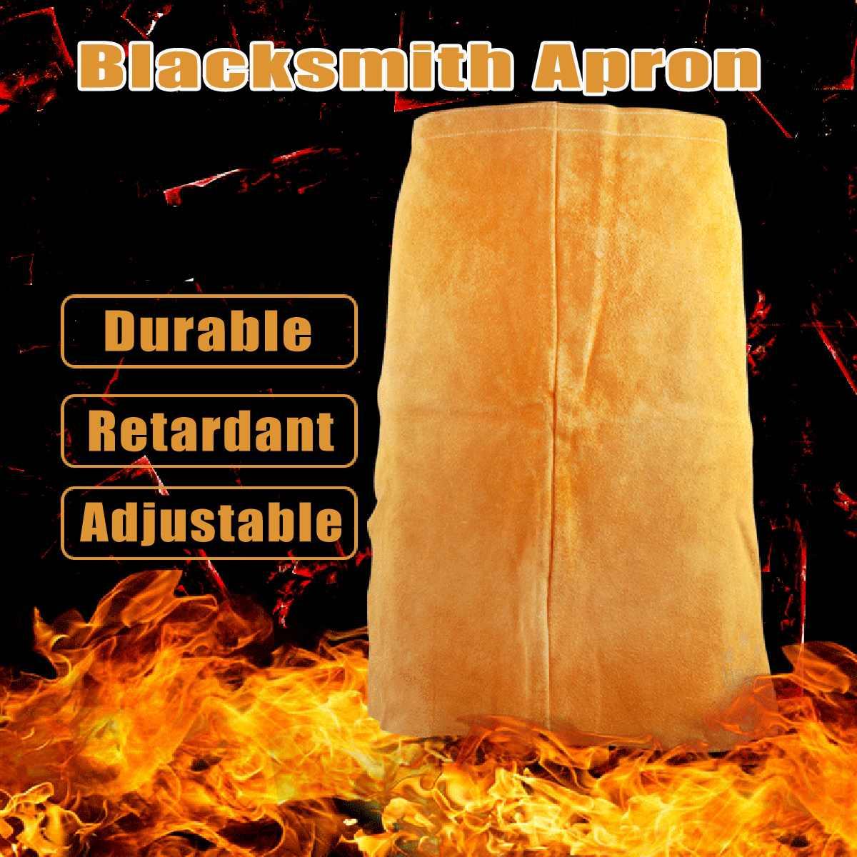 Прочный 2 кармана Полный натуральной кожи сварочный нагрудник кузнец фартук защиты от сварочных брызг 100X68 см