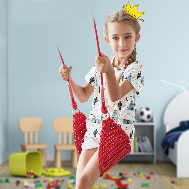 Balançoire de siège d'oscillation de filet de corde d'intérieur d'adultes et d'enfants avec des jouets de corde pour des balançoires extérieures de jardin d'enfants