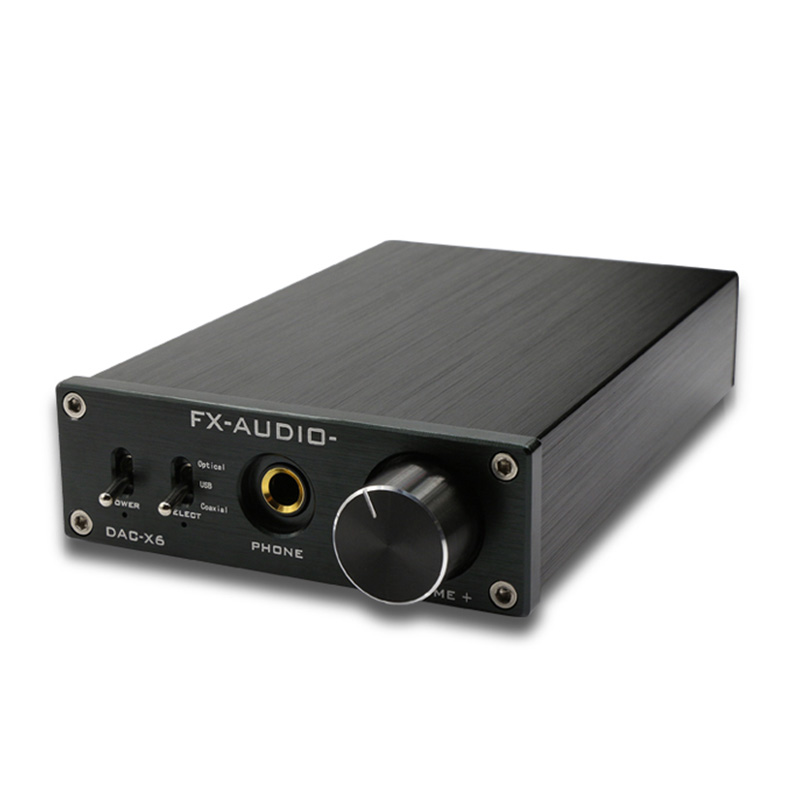 Nfj&Fxaudio Fx-<font><b>Audio</b></font> Dac-X6 Mini Hifi 2.0 Digital <font><b>Audio</b></font> Decoder Dac <font><b>Input</b></font> Usb/Coaxial/<font><b>Optical</b></font> Output Rca/ <font><b>Amplifier</b></font> 24Bit/96Kh image