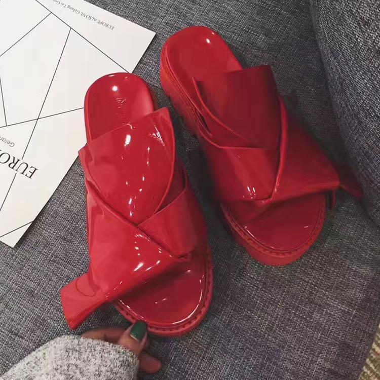 Chaussures Designer Cuir Femme As forme Pics Chaussons Plate Verni noeud L'extérieur Pour D'été Chaude Pics À as Babouches Plat Appartements Papillon tqwS8Ta