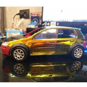 Image 4 - AuMoHall Olografica Arcobaleno Autoadesivo Dellautomobile del Bicromato di Laser Placcatura Del Corpo di Automobile Pellicola Dellinvolucro Styling Auto FAI DA TE