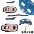 1 Set 3 Spulen S8 Typ-c Qi Drahtlose Schnelle Lade Ladegerät Transmitter DIY PCBA Platine Qi Wireless lade Standard