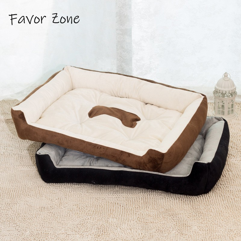 7 Size Soft Fleece Dog Bed Bone Pattern Beds For Small Large Dogs Winter Warm Sofa Teddy Chihuahua Labrador Golden Retriever