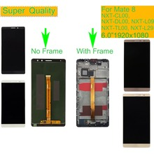 10Pcs/lot For HUAWEI MATE 8 LCD Display Touch Screen Digitizer Assembly With Frame NXT-AL10 NXT-CL00 NXT-DL00 NXT-TL00 NXT-L29 huawei huawei mate 8 nxt l29 lte 32gb grey
