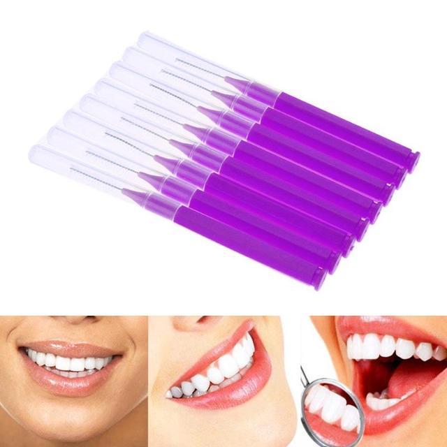 8 piezas de hilo Dental higiene bucal hilo Dental plástico suave cepillo Interdental palillo saludable para la limpieza Dental cuidado bucal