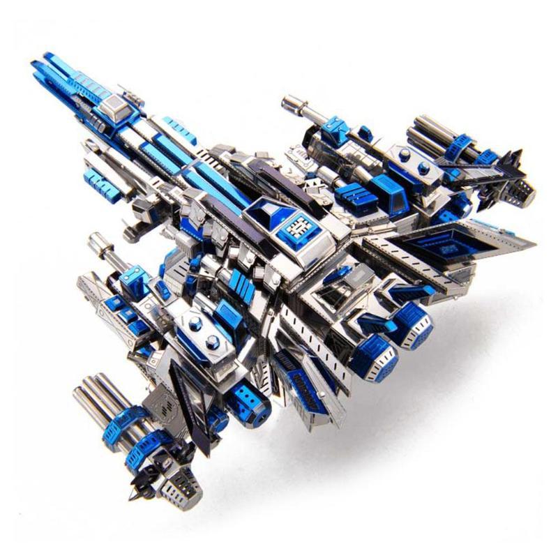 3D bricolage en métal Puzzle modèle de cuirassé Laser coupe enfants adulte assemblage Puzzle blocs de construction jouets éducatifs cadeau