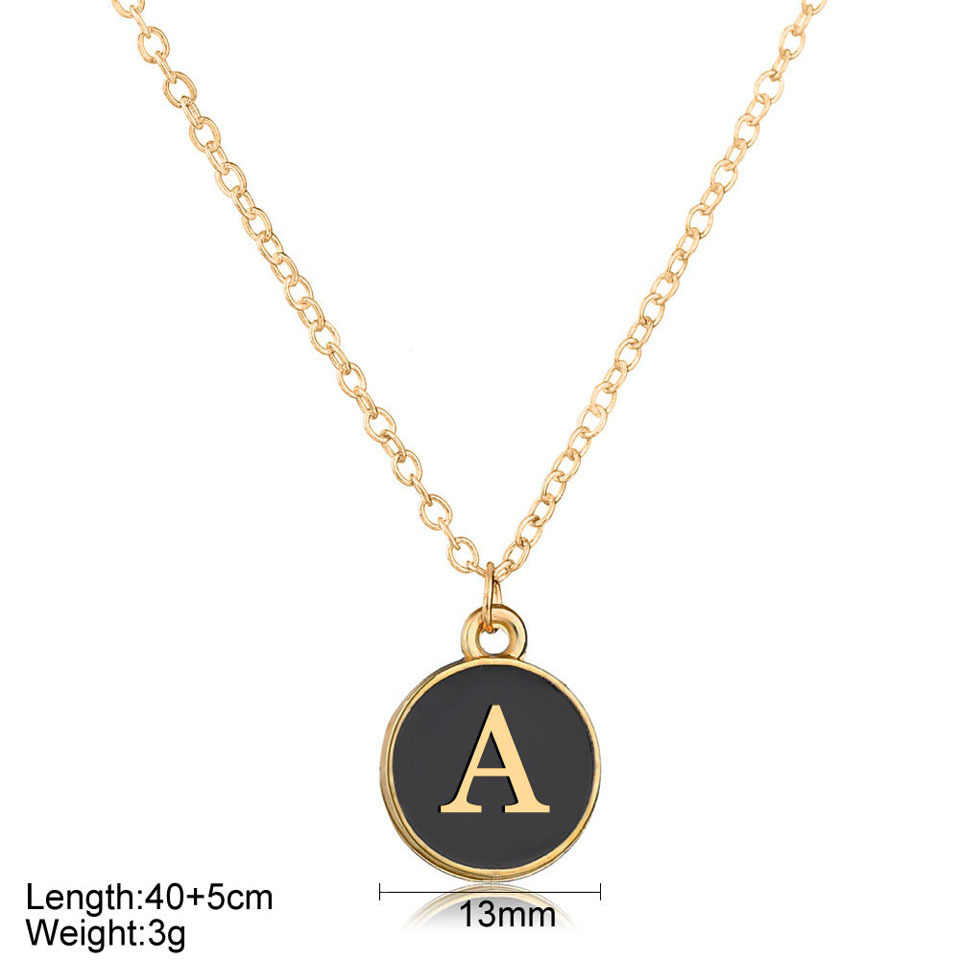 Women Minimalism Black Letters Round Wonderful Necklace For Women High Quality Meaningful Birthday Gifts  Necklace Jewelry