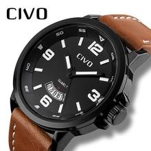 CIVO Men's Watches Waterproof Business Casual Watches Simple Design Analogue Quartz Watch Date Calendar Wristwatch For Men Clock цена и фото
