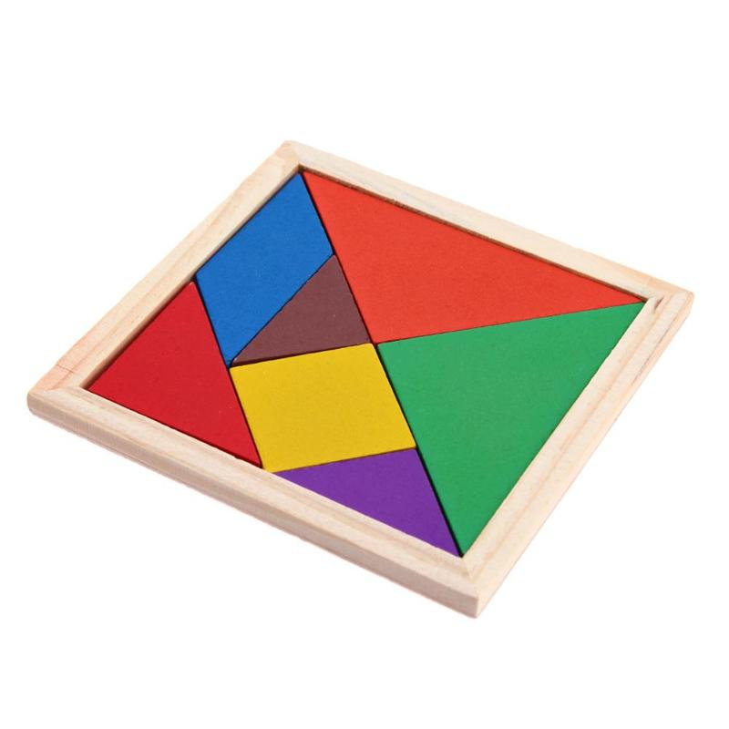 Baby Colorful DIY Jigsaw Puzzle Wooden Toys Geometric Shape 3D Puzzle Early Childhood Educational Toys For Children Kids Gift