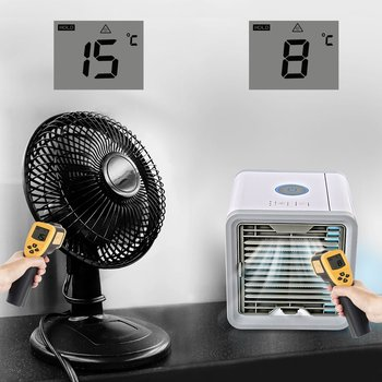 Mini USB Portable Air Conditioner Conditioning Humidifier Purifier 7 Colors Light Desktop Arctic Air Cooler Fan For Home Office 1