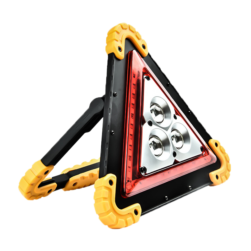 NEW 36 LEDs 1600LM 4 Modes Outdoor Portable Handle Triangle Flashlight Car Repair Work Light  Warning Traffic Light Emergency
