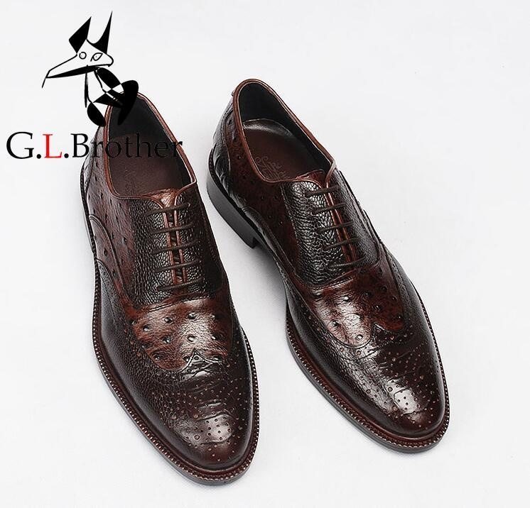 Carved Brogue Dress Shoes Men Lace Up Mix Colour Pleated Genuine Leather Moccasins Patchwork Breathable Groom Smart Casual Shoes men fashion business dress genuine leather shoes carved brogue lace up flats shoe breathable comfort loafers moccasins footwear