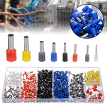 Mayitr 685pcs Mixed Wire Crimp Connector Insulated Cord Pin End Tube Terminal Tool Kit Se 0.5-10mm² Sleeve Cable Lugs