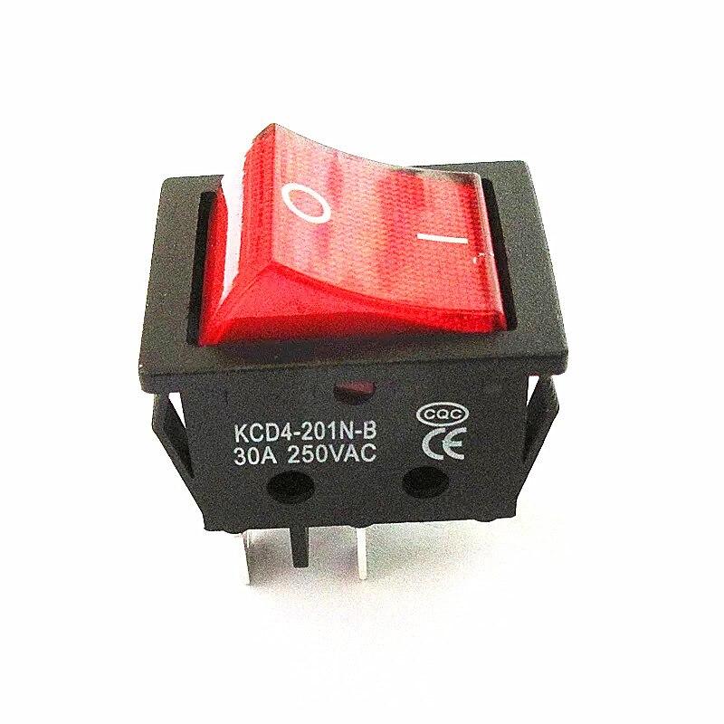 Электрический сварочный аппарат, выключатель питания с красным светильник 30A 250VAC электрический выключатель электрического нагревателя печи 4Pin 2 положения