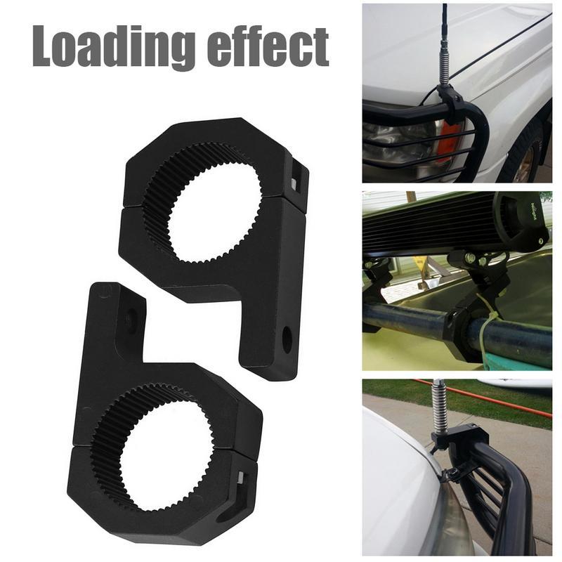 2Pcs Motorcycle Fog Light Bar Horizontal Bar Clamp Mounting Kit Universal Anti-collision Bar Protection Fixed Clip Stand
