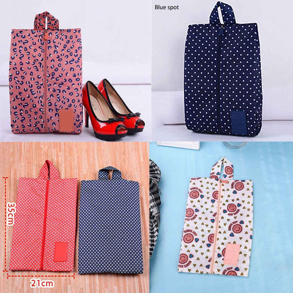 Przenośne buty torba na zamek błyskawiczny podróży torba na zakupy do prania kosmetyczka Organizer Zip