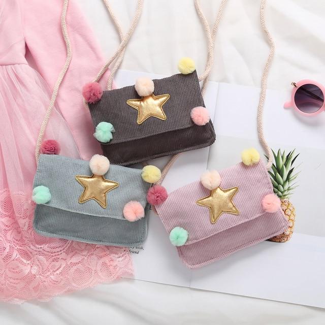 ילדים חדשים בנות כוכב שליח שקיות אופנה פעוט אופנתי כתף תיק חמוד תיק