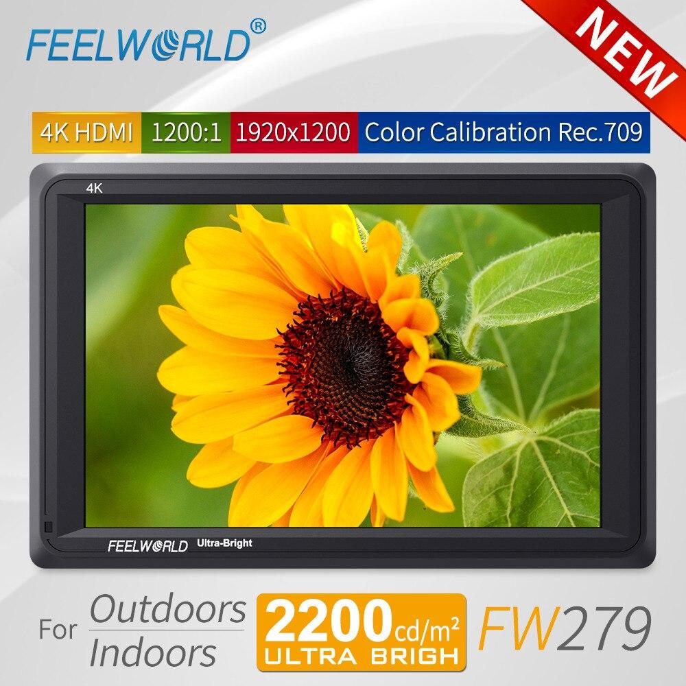 Feelworld FW279 7 pouces Ultra Lumineux 2200nit DSLR Caméra Champ Moniteur 4 K HDMI Haute Luminosité Full HD 1920x1200 LCD IPS Affichage